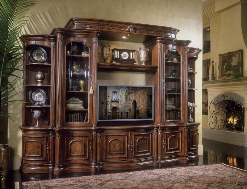 Villagio media center bookcase chelsea fine furnishings for Media center with bookshelves